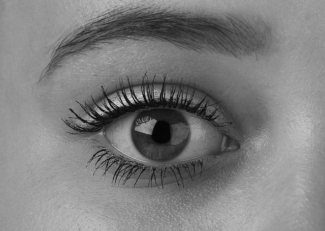 vykulené oko