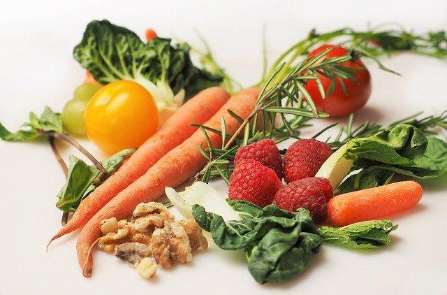 maliny se zeleninou