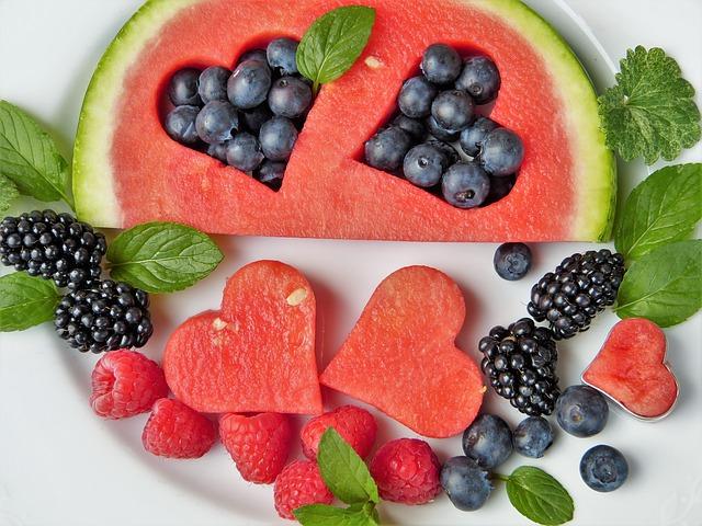 melounové srdce