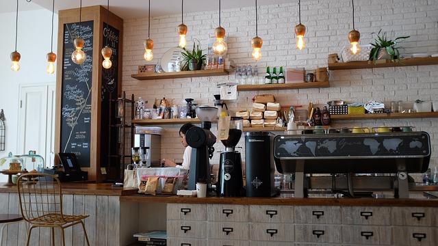 bar v kavárně